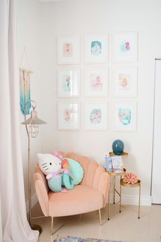 Toddler Mermaid Bedroom Reveal - The Miami Rose Little Mermaid Bedroom, Mermaid Room, Mermaid Bedroom Decor, Teen Girl Bedrooms, Little Girl Rooms, Girl Toddler Bedroom, Boy Rooms, Little Girls Playroom, Toddler Girls