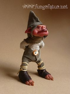 Hermogenes the angry house brownie  OOAK art doll by FuegoFatuo, €170.00