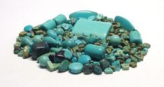 Mixed Lot of Stone Beads in Turquoise Blue 4 Oz. by BeadsFromHaven on Etsy