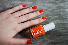 Essie Roarrrrange #nailpolish // need to find this, it'd be perfect for attending training camp!