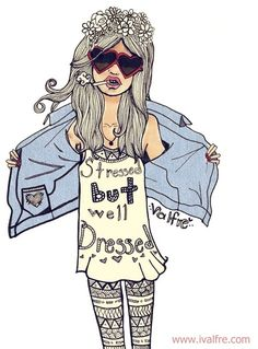 Ilse Valfre is one of my new favorite artists. Love love love. ❤❤ | Stressed But Well Dressed