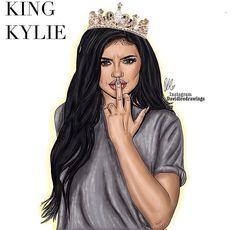 King Kylie digital drawing! https://instagram.com/davidleedrawings/?hl=en #Kingkylie #KylieJenner