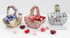 Create these adorable candy baskets with the new floral picnic basket die, perfect for Valentine's Day or Easter treats! http://www.spellbindersblog.com/candy-baskets-for-valentines-day-and-easter/?utm_campaign=coschedule&utm_source=pinterest&utm_medium=Spellbinders&utm_content=Candy%20Baskets%20for%20Valentine%27s%20Day%20and%20Easter