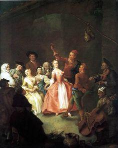 Peasants Dancing La Furlana  by Pietro LONGHI 1750 Private collection