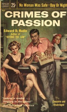Crimes of Passion, Popular Library 605 1954