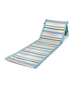 Look at this #zulilyfind! Blue Stripe St. Tropez Portable Beach Mat by Picnic Time #zulilyfinds $29.99