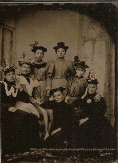 Sentimental Sunday - Seven Bored 1890's Women in Hats