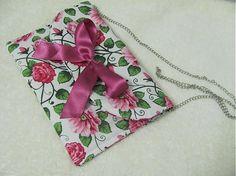 Wesega / Listová kabelka s retiazkou-ružičková