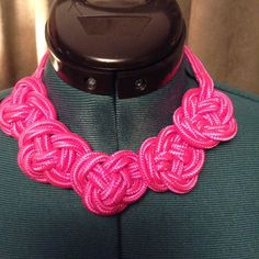 "Hot pink knot choker! Super cute! Hot pink knot chocker.  16"" with a 2"" extender. Jewelry Necklaces"