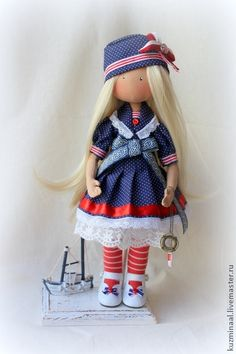 Collectible handmade dolls.  Fair Masters - Textile handmade doll MARINA.