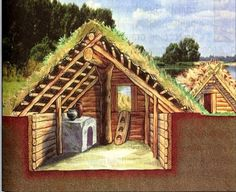 House or root cellar? - Inside the house of ancient Russians (slavyane), the 10th century. The window was used as a door.