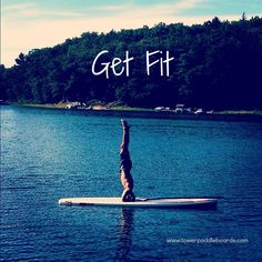 Stand up paddle board yoga helps improve balance and strength. Give it a try! Doesnt even feel like a workout when its outside #paddleboarding