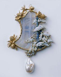 René Lalique ルネ・ラリック brooch 冬景色 | Sumally