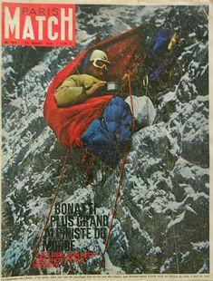 The great Italian alpinist, Walter Bonatti, in his bivouac on the Matterhorn