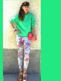 GREEN AND FLORAL by fashionamy on STYLIGHT