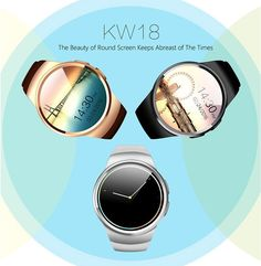 Hot sale KW18 multi-function Bluetooth smart watch full-screen support SIM TF card movement sleep heart rate monitoring //Price: $70.80//     #onlineshop