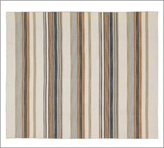 Cruz Stripe Dhurrie Rug | Pottery Barn - Hall runner in kitchen? $160