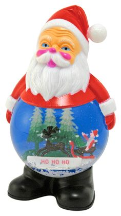 They dont make great Santa snow globes like this anymore! Kitschy, vibrant, classic plastic Santa figural snowglobe with a snow and water filled belly. Vintage in excellent condition. Snow Globe Kit, Snowman Snow Globe, Diy Snow Globe, Christmas Snow Globes, Christmas In July, All Things Christmas, Vintage Christmas, Xmas, Vintage Santa Claus