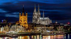 Kölner Altstadt-Panorama bei Nacht / #Cologne panorama by night ©Jens Korte, KölnTourismus GmbH