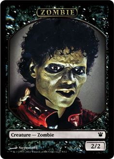 MTG Michael Jackson Zombie Token