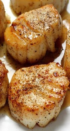 Perfectly Seared Scallops The taste of scallops is so unique you just cant confuse it with anything else. Please also visit. Perfectly Seared Scallops The taste of scallops is so unique you just cant confuse it with anything else. Please also visit. Seafood Recipes, Chicken Recipes, Cooking Recipes, Healthy Recipes, Seafood Appetizers, Seafood Meals, Salmon Recipes, Cold Appetizers, Seafood Pasta