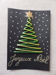 carte tissage sapin noël