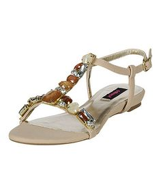 Look what I found on #zulily! Nude Whimsical Rhinestone Sandal #zulilyfinds