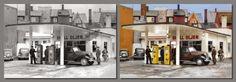 Johan Dahl and a new Shell station 1937