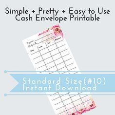 Budget Binder DIY Cash Envelope Printable Cash Budgeting Template Dave Ramsey Debt Snowball
