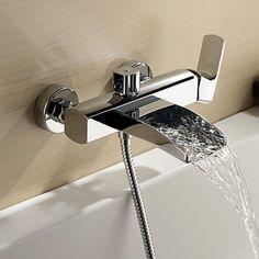 zeitgenssische Wasserfall Badewanne Wasserhahn - Wandhalterung ... | {Badewannen armaturen wasserfall 69}