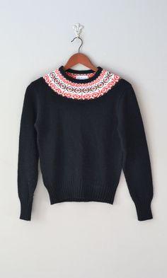 fair isle sweater / folk wool sweater
