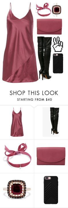 """""""date night"""" by queenshaima ❤ liked on Polyvore featuring Fleur du Mal, Givenchy, Mateo, Skagen, Effy Jewelry and Rebecca Minkoff"""