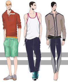 ORIGINAL FASHION ILLUSTRATIONS BY MEN'S ON ILLUSTRATIONS