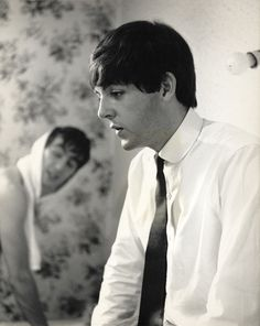 Paul and John. Love John in the soft focus. (I can't tell whether it's George or John, but agreed)