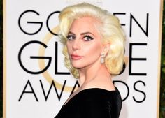 Pin for Later: The Accessories at the Golden Globes Are Stop-You-in-Your-Tracks Good Lady Gaga Wearing diamond drop earrings.