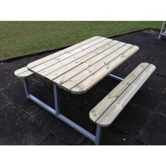 Cleveland Steel Framed Picnic Table