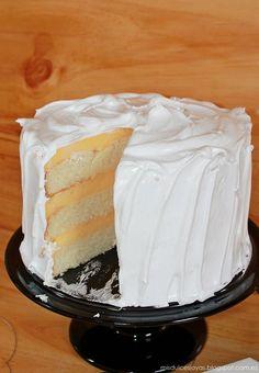 Lemon Meringue Layer Cake - Pastel de limón y merengue - Mis Dulces Joyas