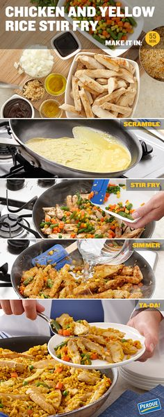 Chicken and Yellow Rice Stir Fry. Great, fresh-tasting PERDUE® chicken and zesty seasoning, a match made in dinner heaven.