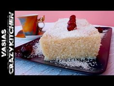 Greek Desserts, Greek Recipes, New Year's Cake, Vanilla Cake, Youtube, Food, Essen, Greek Food Recipes, Meals