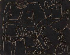 Le Corbusier (Charles-Edouard Jeanneret): Chute de Barcelona (The Fall of Barcelona [Study]) |           Le Corbusier (Charles-Edouard Jeanneret) La Chaux-de-Fonds, Switzerland, 1887 - Roquebrune Cap Martin, France, 1965