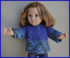 "Ravelry: Cuddles Sweater for 18"" Doll pattern by Laura Andersson"
