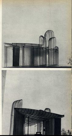 Le Corbusier –  La chapelle de Notre-Dame du Haut à Ronchamp | Dessiné en 1950…