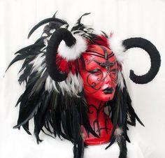 Horned Headdress Custom Order by Wickedheart on Etsy