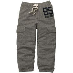 Pull-On French Terry Varsity Cargo Pants | Baby Boy New Arrivals Size: 9M