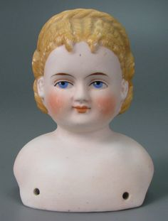 German bisque doll head by Alt, Beck & Gottschalk, 1880-1900.
