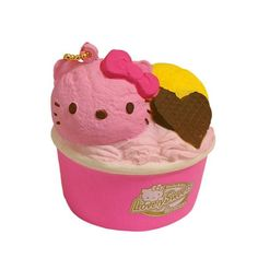 Sanrio Hello Kitty Squishy Lovely Sweets Series Ice Cream Cup Ball Chain -  - 2