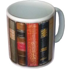 Mug - 'Antique Austen Books' Jane Austen. Perfect for tea and Jane Austen on a rainy day.