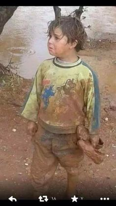 Kids in Syria are suffering under the weather conditions.
