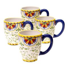 CERTIFIED INTERNATIONAL Amalfi Mug Set Of 4 $29.95  Pick Up Order and get 20% Off Or we will ship FREE Enter Promo Code SPRPRV15 At Checkout and receive 30% Off your order