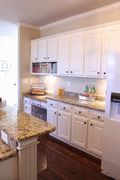 Kitchen Design With White Appliances tiffanyd: some progress in the kitchen benjamin moore clay
